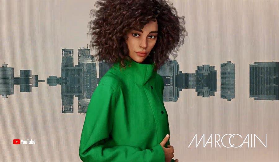 La réalité rencontre la RV - Le premier défilé de mode virtuel / film de mode par MarcCain